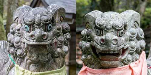 image of komainu aum pair