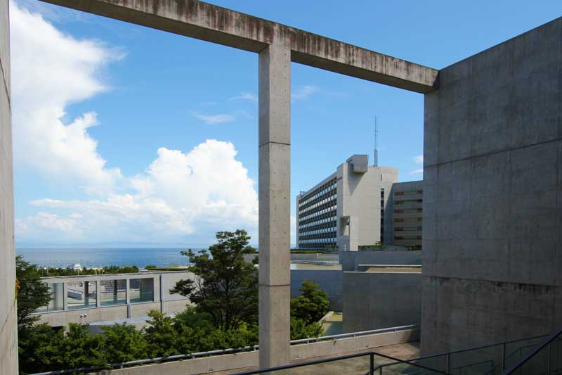 Awaji Yumebutai Ocean view through opening