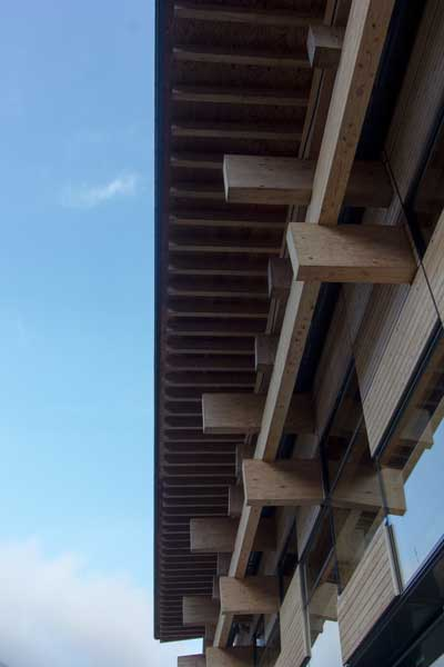 Yusuhara Town Hall Eaves Detail