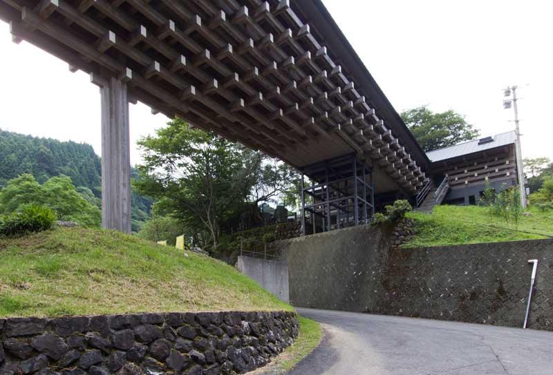 Yusuhara Wooden Bridge Museum Back Side