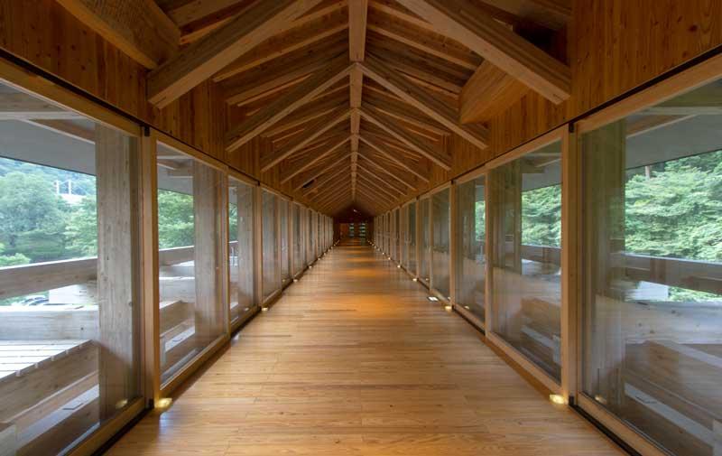 Yusuhara Wooden Bridge Museum Interior