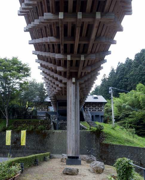 Yusuhara Wooden Bridge Museum View from Underneath