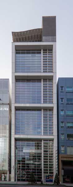 Nicolas G Hayek Center Facade Closed