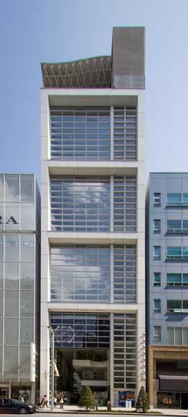 Nicolas G Hayek Center Facade Opened